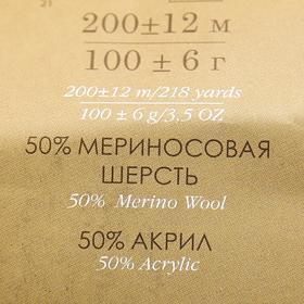 Пряжа 'Мериносовая' 50меринос.шерсть, 50 акрил 200м/100гр (40-Цикламен) - фото 4