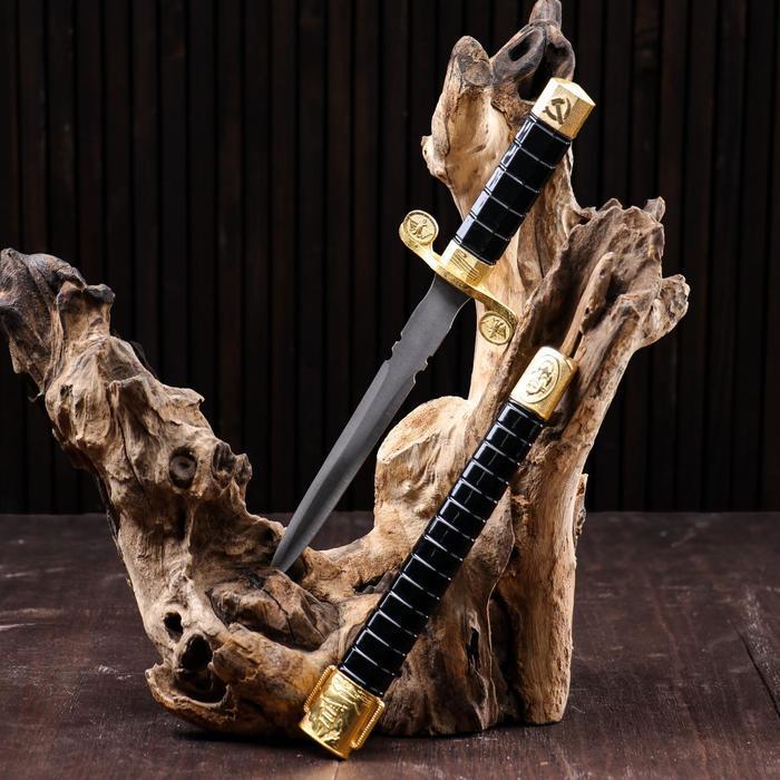 Сувенирный нож, 35 см , ножны чёрно-золотые