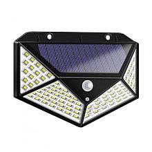Уличный светильник настенный на солнечной батарее с датчиком движения 100 LED диодов
