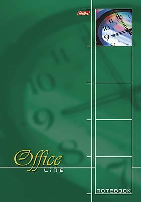 """Блокнот """"Hatber"""", 60л, А4, клетка, жёсткая подложка, на спирали, серия """"Office Line - Зелёный"""""""
