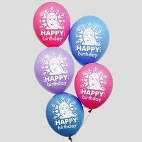 Воздушные шары 'Happy birthday', Холодное сердце 12 дюйм (набор 25 шт)