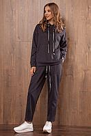 Женские осенние трикотажные серые спортивное брюки Nova Line 4787 графит 46р.