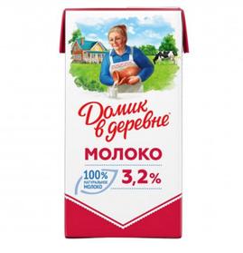Молоко Домик в деревне, 925 мл, 3.2%, тетрапакет