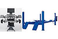 Комплект F4D-4 Подъемник 4-хст. г/п 4т,эл/гидр. с траверсой+6202 Стенд сход развал 3D