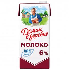 Молоко Домик в деревне, 928 мл, 6%, тетрапакет