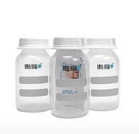Бутылочки-контейнер для молока, 3 шт, 125 мл