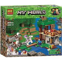 "10989 Конструктор Bela Minecraft ""Нападение армии скелетов"" 463 детали, аналог Lego Minecraft 21146"