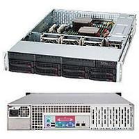 """Chassis 825TQ-563LPB 8x 3.5"""" Hot-swap SAS / SATA Drive Bays 1x Slim DVD-ROM Drive (Optional) . 2x Fixed 3.5"""""""