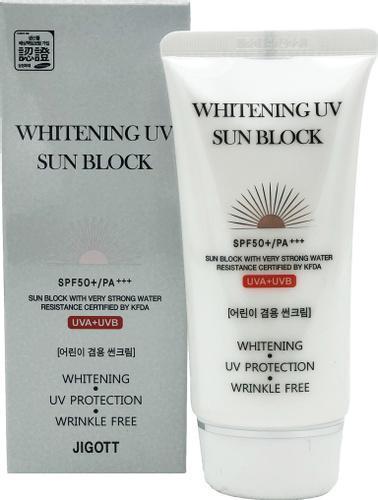 JIGOTT WHITENING UV SUN BLOCK Осветляющий солнцезащитный крем SPF50+/PA+++, 70 мл