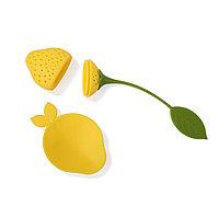 Силиконовый фильтр для чая в форме лимона или клубники