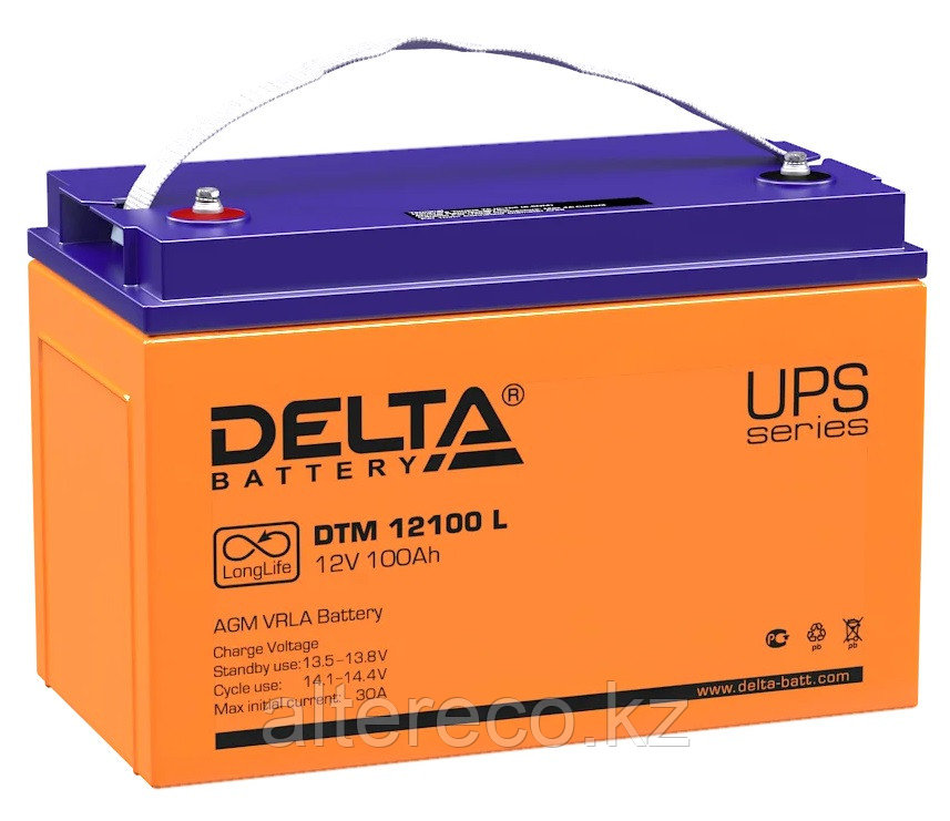 Аккумулятор Delta DTM 12100 L (12В, 100Ач)