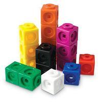 LER4285 Игровой набор Соединяющиеся кубики.Математические связи. 100 элементов,5+