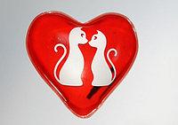 Грелка солевая Сердце красный