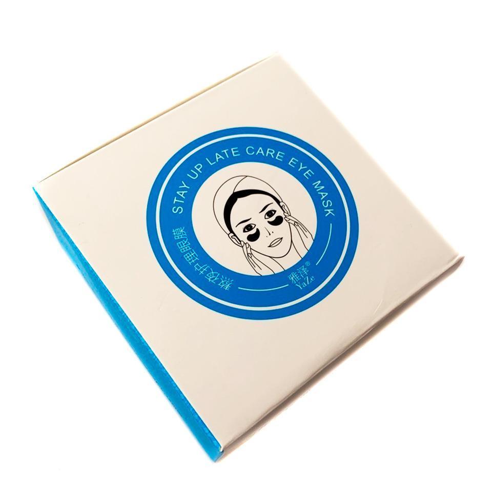 YaZe, Гидрогелевые Патчи для кожи вокруг глаз Stay Up Late Care Eye Mask, 60 шт