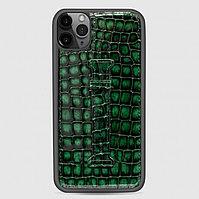 Чехол для телефона iPhone 11 Finger-holder Green