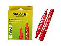 Маркер перманентный Mazari Duo красный 2-6мм двухсторонний