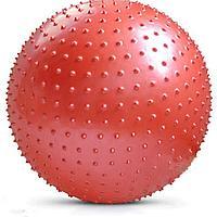 Фитбол массажный 85см с насосом, красный fbm85