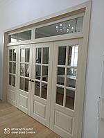 Межкомнатная дверь -перегородка с фрамугой