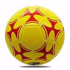 Мяч футбольный размер 5, желтый с красным