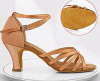 Туфли для бальных танцев, бежевые ( взрослые). Размер: 35-41