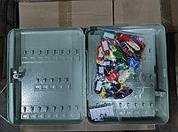 Шкафчик для 93 ключей, 300x240x80мм, настенный, металл, серый Donau, фото 2