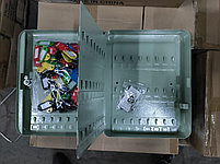 Шкафчик для 93 ключей, 300x240x80мм, настенный, металл, серый Donau, фото 3