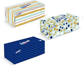 SELPAK Салфетки в коробке Maxi 100 Листов