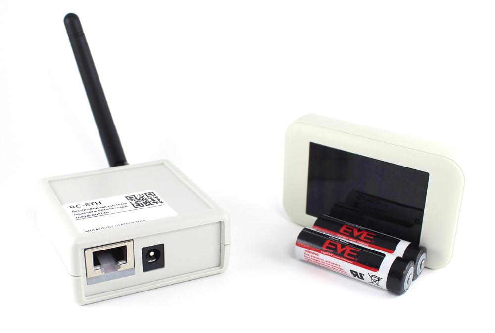 Беспроводной счетчик посетителей серия R-COUNT RC-ETH-W графит на 4 прохода