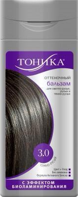 Бальзам для волос оттеночный, оттенок 3.0 темно-русый