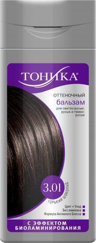 Бальзам для волос оттеночный, оттенок 3.01 Горький шоколад