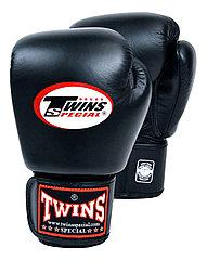 Боксерские перчатки Twins Special BGVL-3 черные 12 унций,