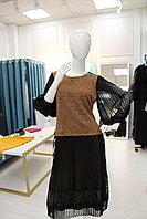 Платье Sensiline 10530 коричнево-черное