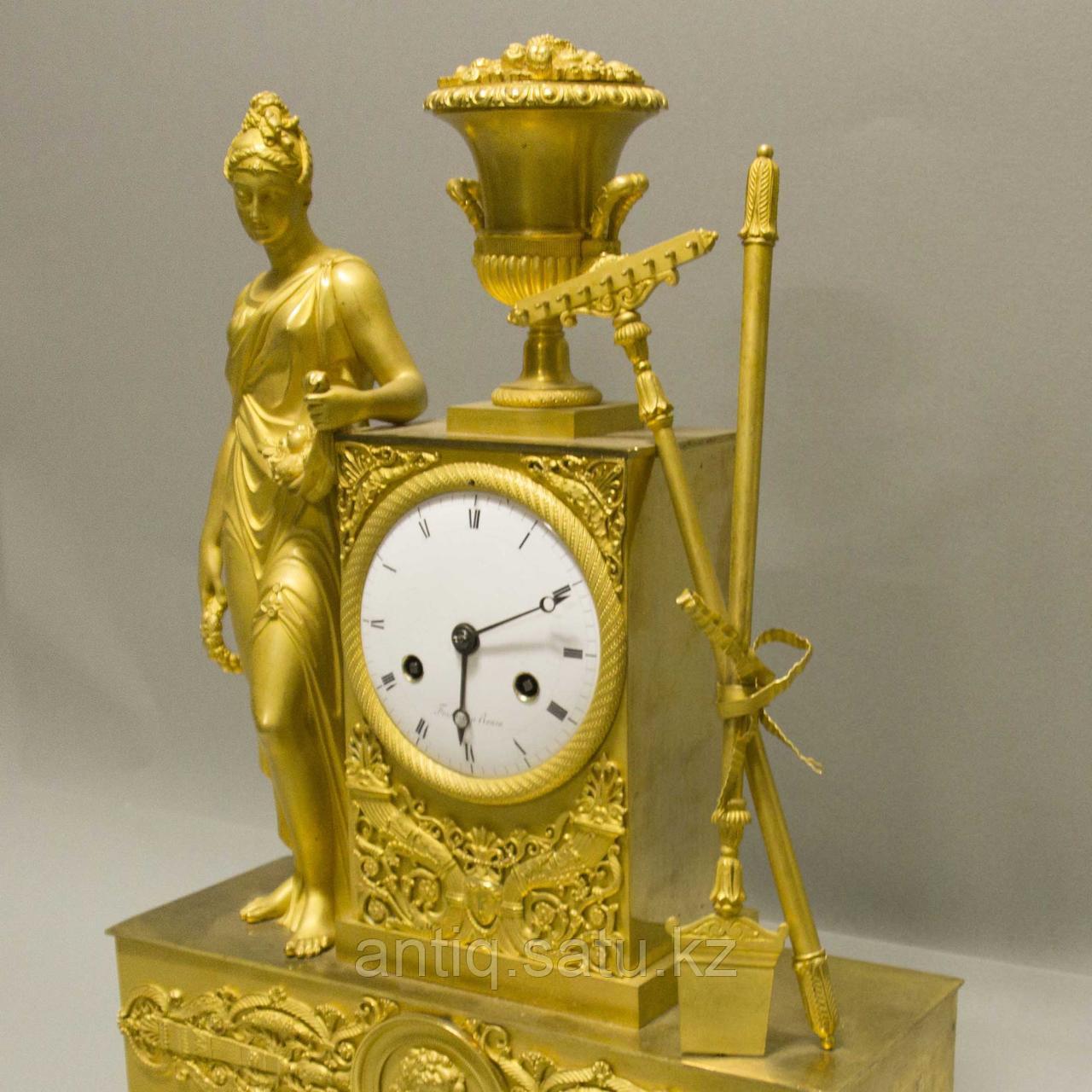 «Церера богиня урожая и плодородия» Каминные часы в стиле Ампир - фото 2