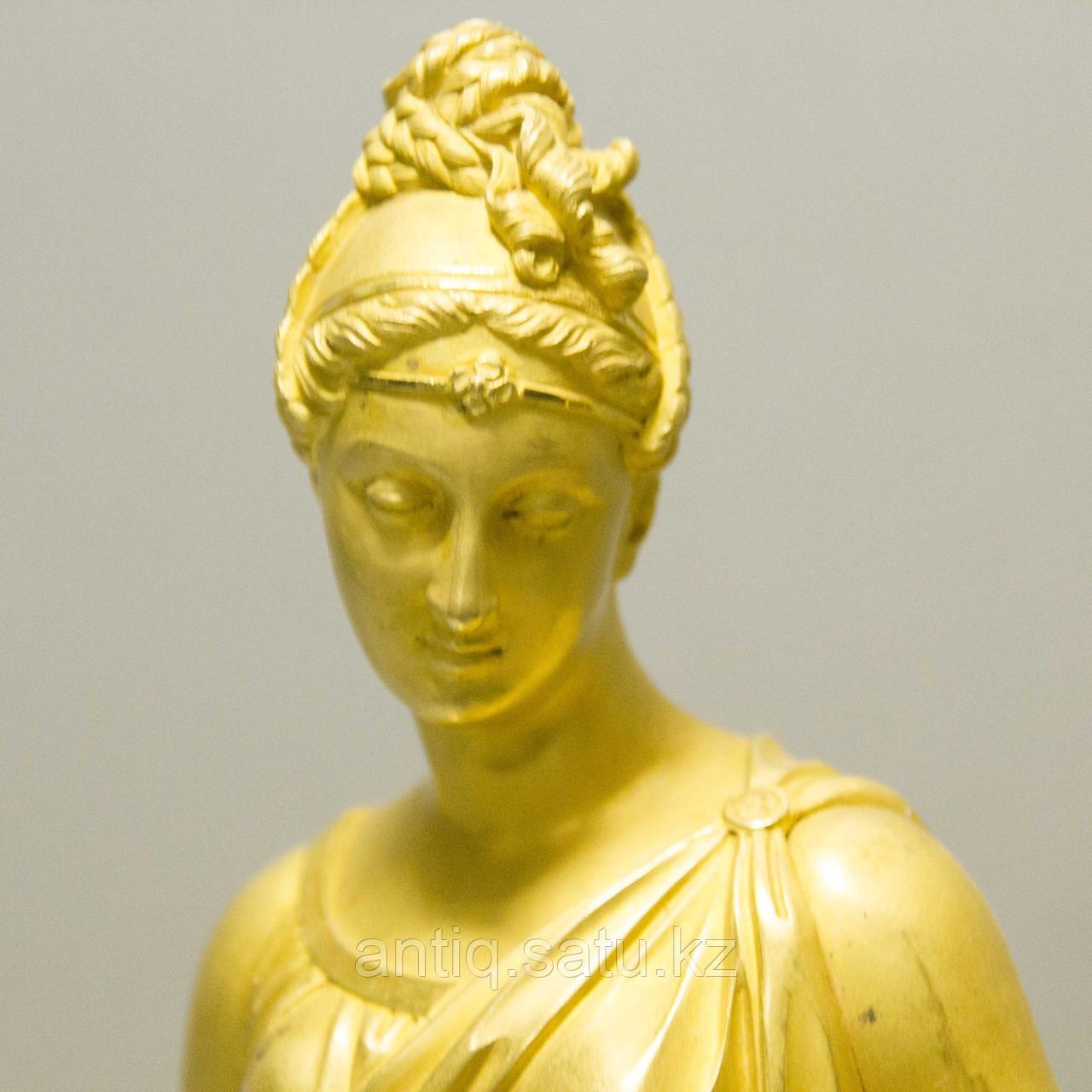 «Церера богиня урожая и плодородия» Каминные часы в стиле Ампир - фото 3