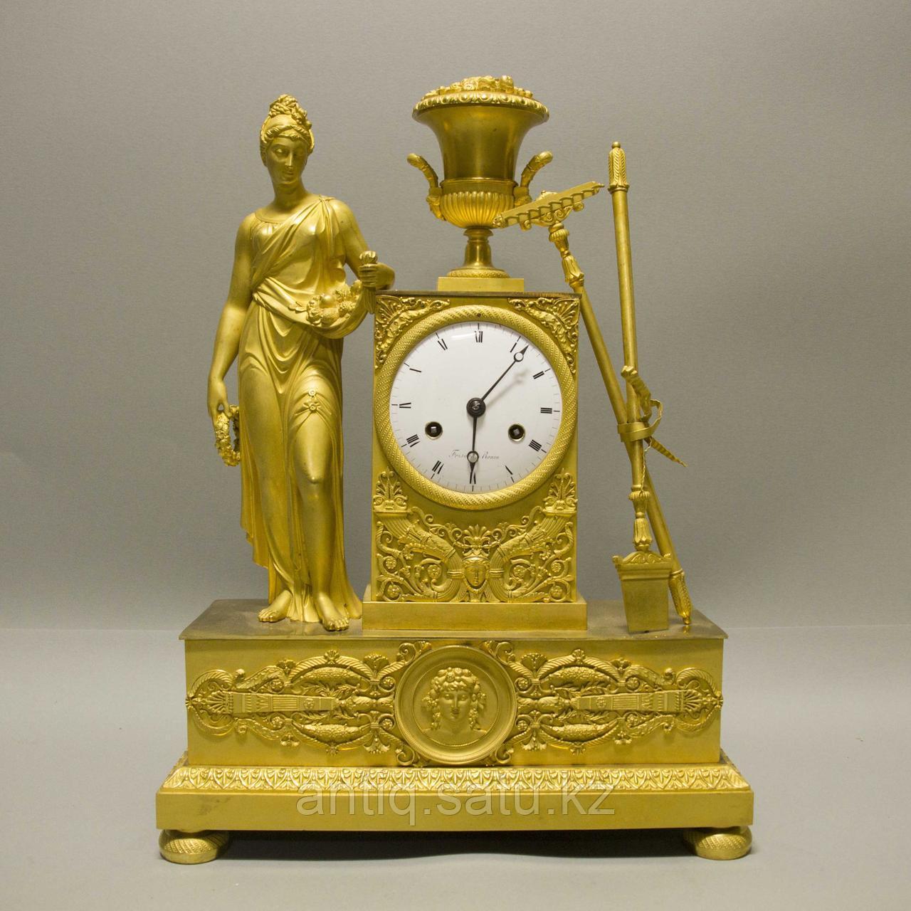 «Церера богиня урожая и плодородия» Каминные часы в стиле Ампир - фото 1
