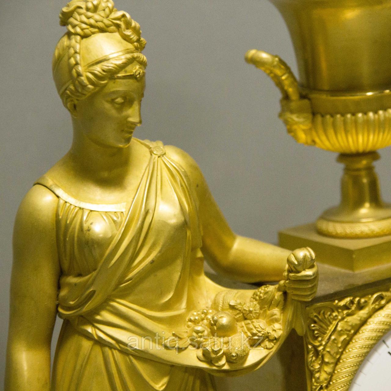 «Церера богиня урожая и плодородия» Каминные часы в стиле Ампир - фото 4
