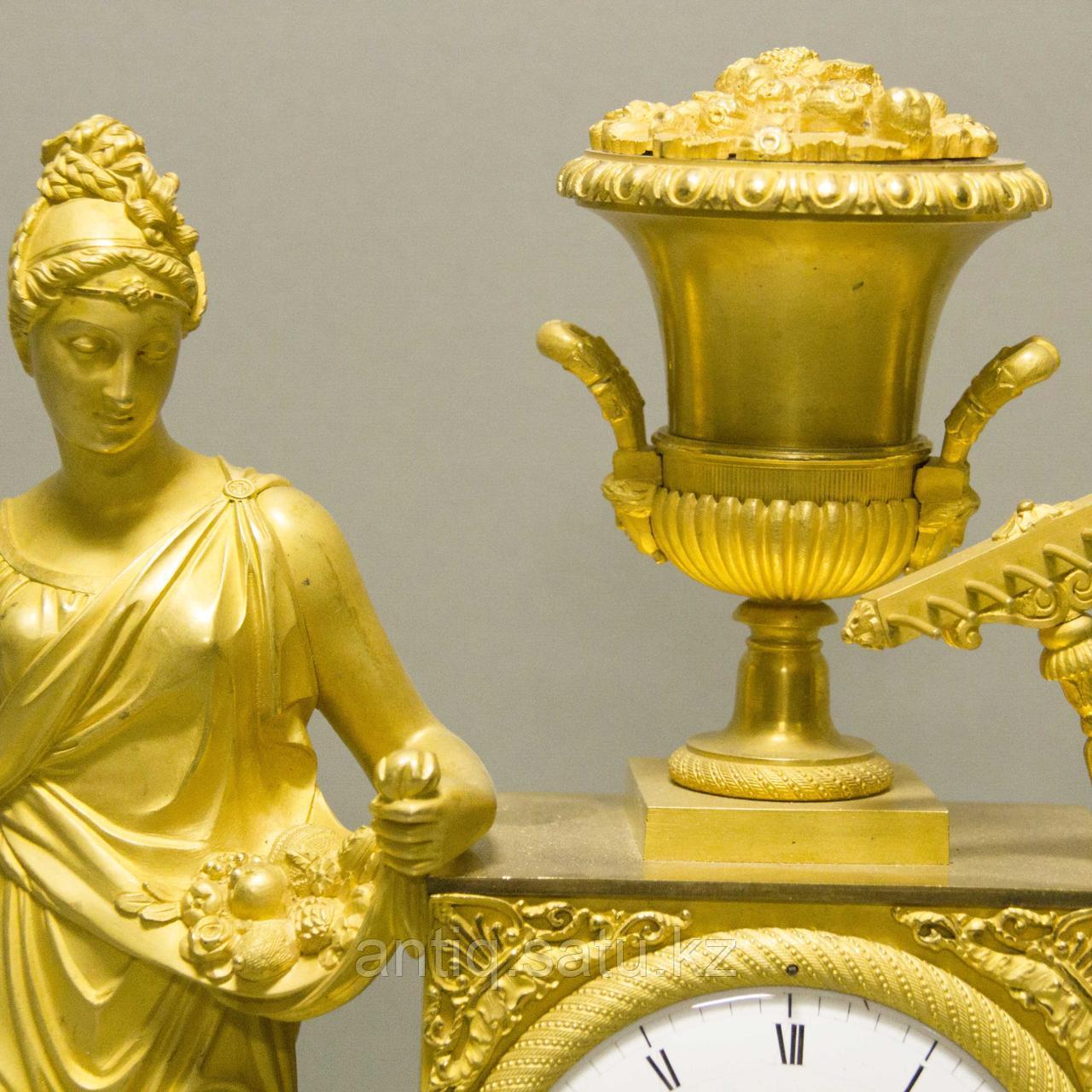«Церера богиня урожая и плодородия» Каминные часы в стиле Ампир - фото 5