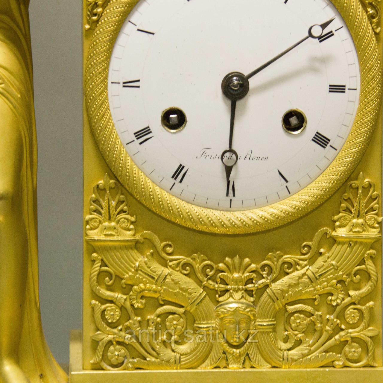 «Церера богиня урожая и плодородия» Каминные часы в стиле Ампир - фото 6