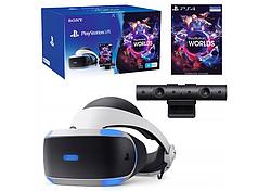 PLAYSTATION VR GOGGLES V2 CAMERA + VR GAME WORLDS DLC