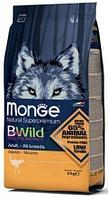 Monge BWild Dog Adult Ostrich, корм для взрослых собак со страусинным мясом,уп.7,5кг.