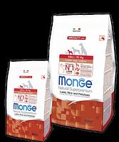 Monge Dog Mini Puppy&Junior Lamb&Rice,сухой корм для взрослых собак мелких пород с бараниной и рисом,уп.800