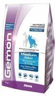 Gemon Dog Medium Adult,сухой корм для средних пород собак с тунцом и рисом,уп.15 кг.