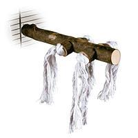 Trixie,игрушка жердочка с веревками для птиц,20 см.
