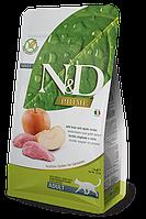 Farmina N&D Adult,беззерновой корм для взрослых кошек с диким кабаном и яблоком,300 гр.