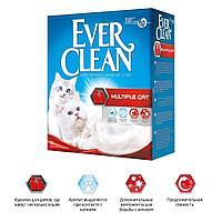 Ever Clean Multiple Cat,комкующийся наполнитель для нескольких кошек,уп.6л.