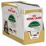 Royal Canin Maine Coon Adult, влажный корм для кош породы мейн кун, кусочки в соусе 12*85 гр