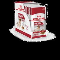 Royal Canin Medium Adult, влажный корм для взрослых собак средних пород в соусе,уп.10*140 гр.