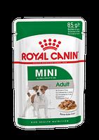 Royal Canin Mini Adult,влажный корм для взрослых собак мелких пород (в соусе),уп.10*140 гр.
