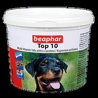 Beaphar Top10,мультивитаминная добавка с L-карнитином для собак,750 таблеток