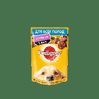Pedigree,влажный корм для взрослых собак всех пород с ягненком в желе,85гр.